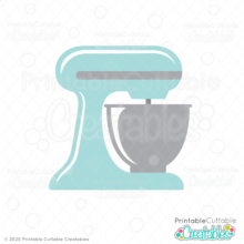 Kitchen Stand Mixer SVG File