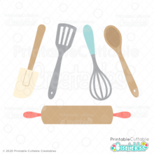 Rolling Pin & Baking Utensils SVG File