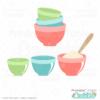 Mixing Bowls SVG File