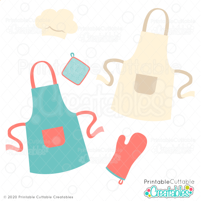 Aprons n Oven Mitts SVG File