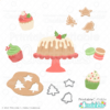 Christmas Cakes n Cookies SVG File