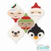 Christmas Friends Arabesque Tile Ornament SVG Bundle