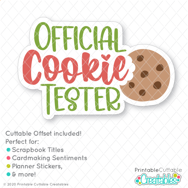 Official Cookie Tester Free Christmas SVG File