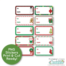 Christmas Gift Labels Free Printable Stickers