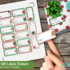 Free Print & Cut Christmas Gift Labels Stickers