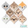 Animal Friends Arabesque Tile Ornaments SVG File