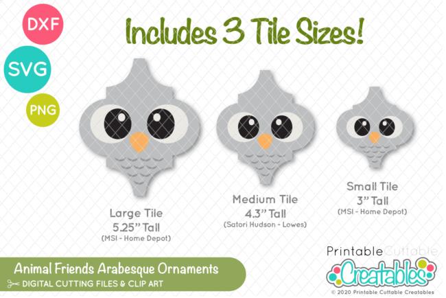 E580 Animal Friends Arabesque Tile Ornaments SVG Bundle preview 2