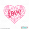 Love Heart Mandala Free SVG File