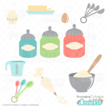 Baking Ingredients SVG Bundle