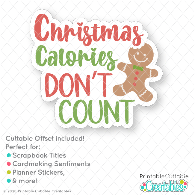Free Baking Christmas SVG file with cuttable offset for printable stickers