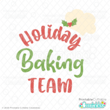 Holiday Baking Team SVG File