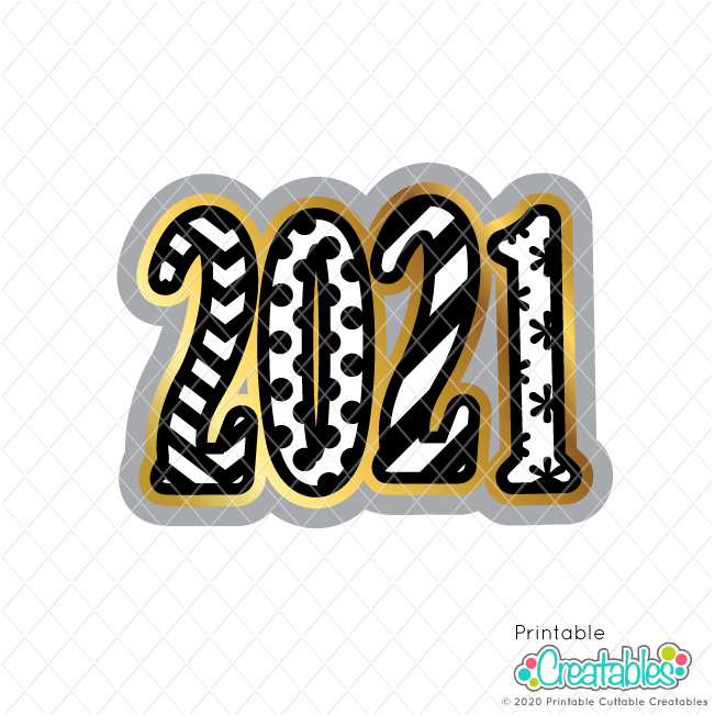 2021 New Year Free SVG File
