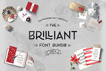 Brilliant Font Bundle Vol 6 - Commercial Use Fonts