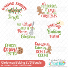 Christmas Baking SVG Bundle
