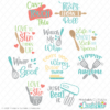 Kitchen SVG Files Bundle