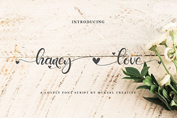Haney Love Free Font Commercial Use