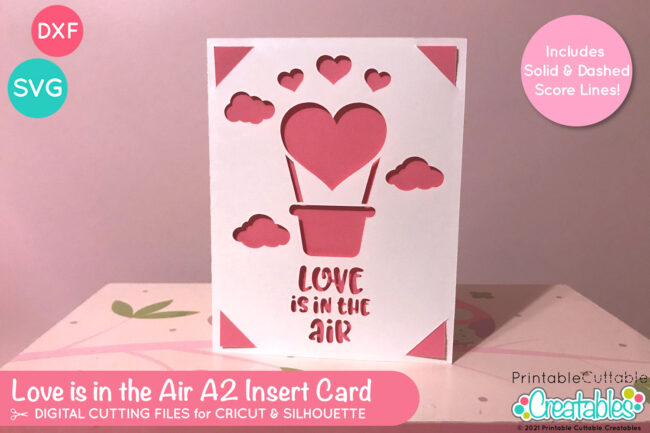 Valentine's Day Insert Card Free SVG File