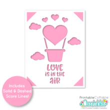 Love in the Air A2 Insert Card Free SVG File