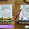 DIY Classroom Valentines Crayon Holder Coloring Card SVG Files
