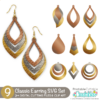 Classic Earrings Free SVG Files