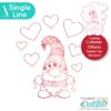Single Line Love Banner Gnome SVG File