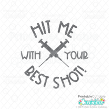 Hit Me with your Best Shot SVG File