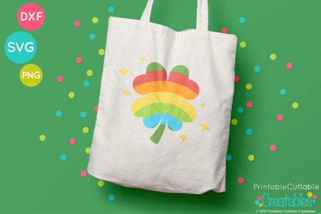 Rainbow Clover SVG File