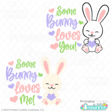 Some Bunny Loves Me SVG File