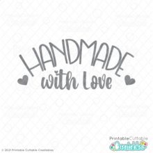 Handmade with Love Free SVG File