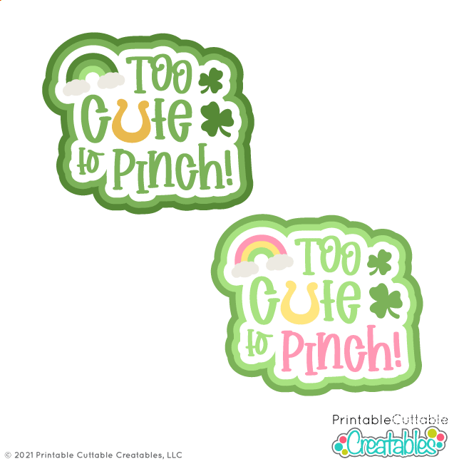 T198 Too Cute to Pinch SVG Files preview 2