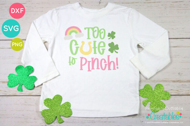 T198 Too Cute to Pinch SVG project design idea