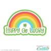 Happy Go Lucky Rainbow SVG File
