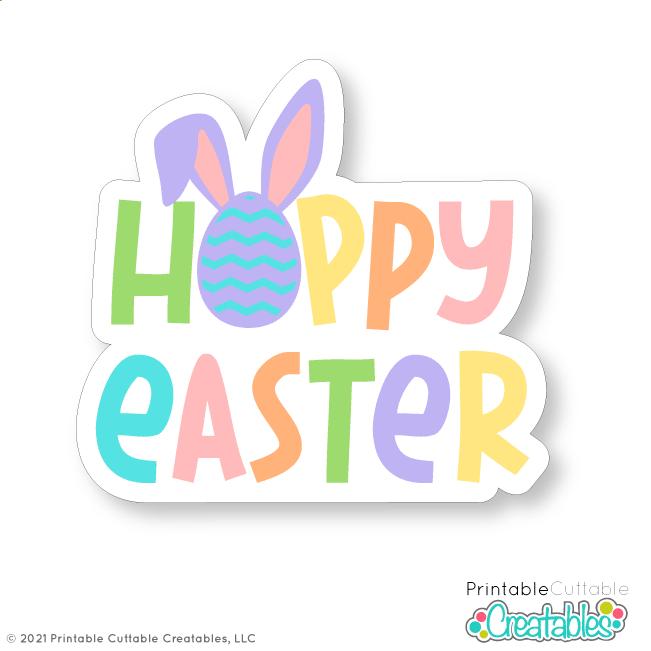 Hoppy Easter SVG File Free