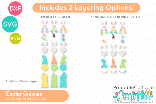 E589 Easter Gnomes SVG Files preview 2
