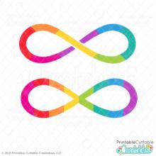 Rainbow Infinity Autism SVG File
