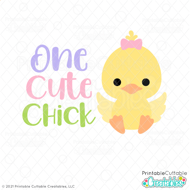 One Cute Chick SVG Files