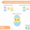 Easter Chicks SVG Cut File