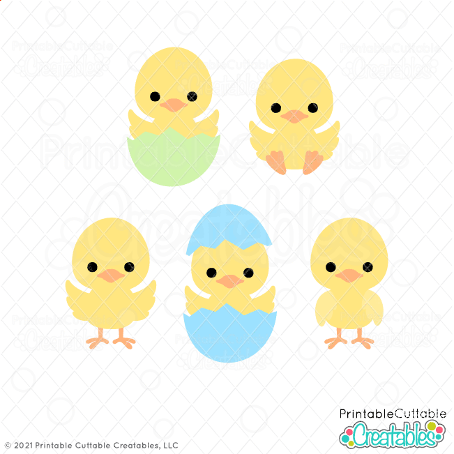E596 Easter Chicks SVG Files preview 3