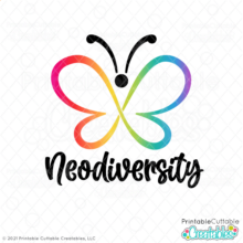 Neurodiversity Butterfly SVG File