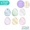 Patterned Easter Eggs Free Single Line SVG Files