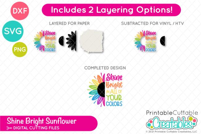 T206 Shine Bright Sunflower SVG File preview 3