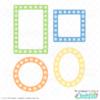 Free Paw Print SVG Frames