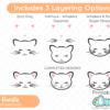 Cat Face SVG Set