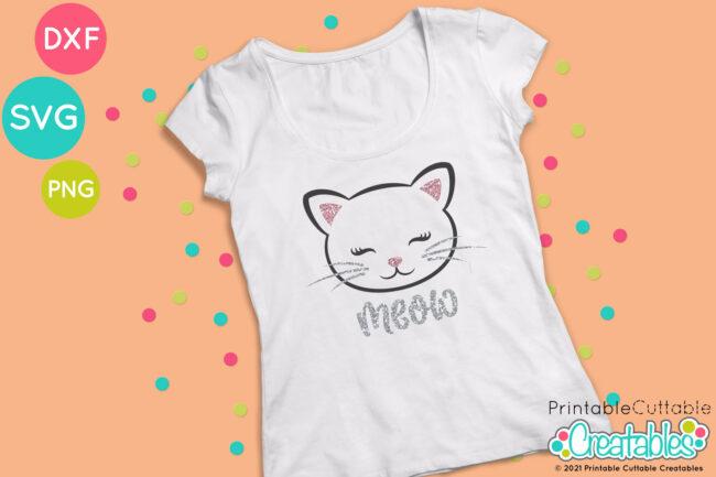 Cat Face SVG File T-shirt idea