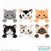 Peekaboo Cat Face SVG Files