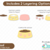 Cat Food SVG Files Layered Cut Files