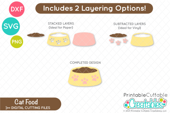 Cat Food SVG Files Layered Cut Files