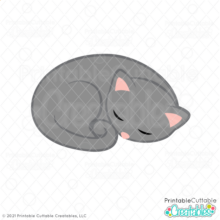 Napping Cat SVG File
