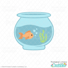 Fish Bowl SVG File for Cricut & Silhouette