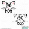 Cat Mom - Dad SVG Files